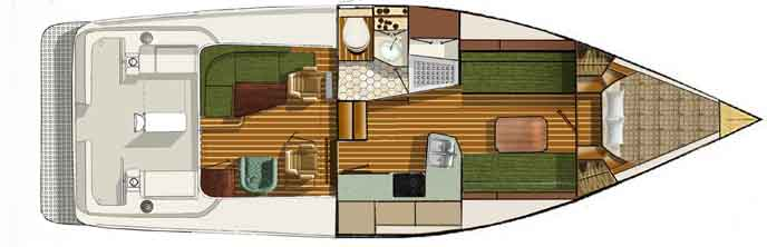 Shannon 38HPS Interior Layout 4